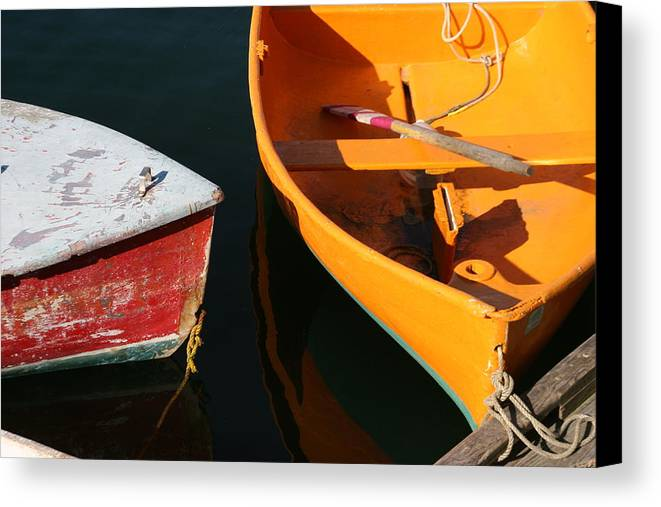 Cape Ann Canvas Print featuring the photograph Cape Ann Boats by Linda Russell