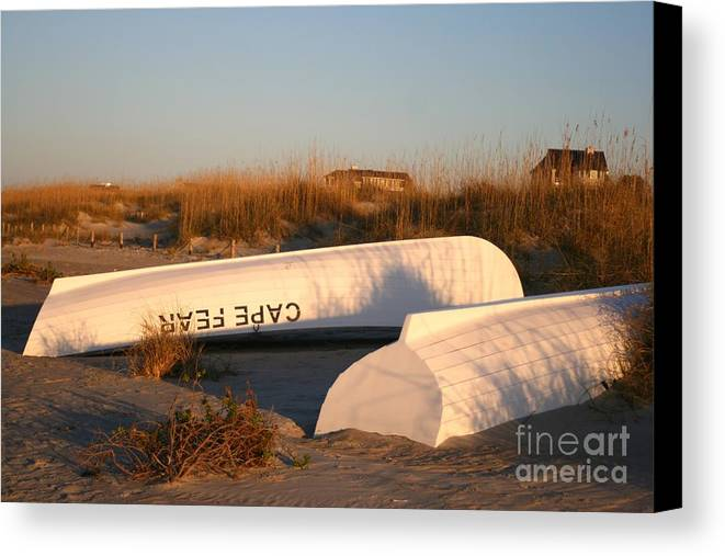 Boats Canvas Print featuring the photograph Cape Fear Boats by Nadine Rippelmeyer