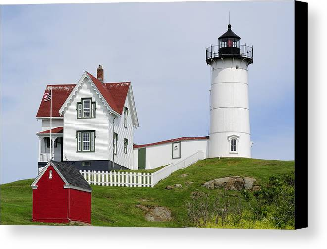 Cape Canvas Print featuring the photograph Cape Neddick Light by Luke Moore