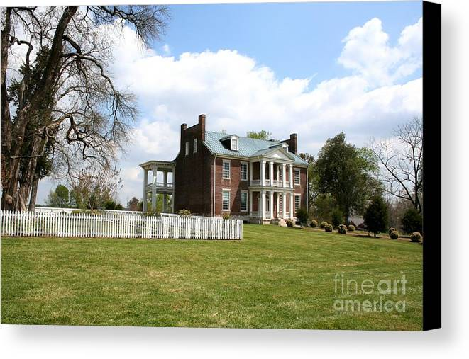 Carter House Canvas Print featuring the photograph Carter House And Carnton Plantation by John Black