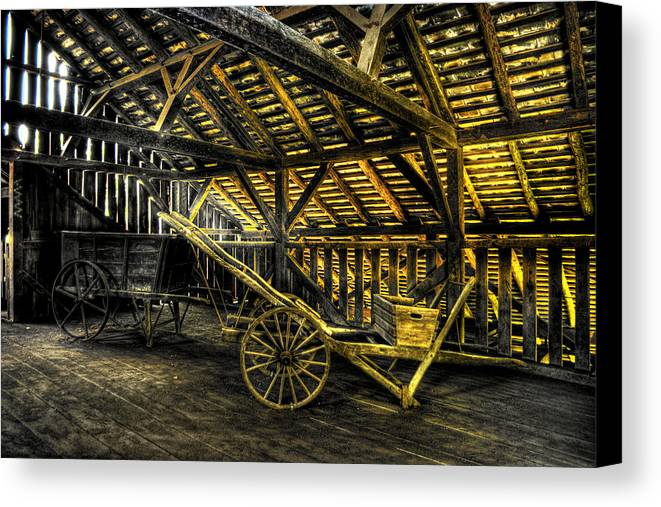 Farm Canvas Print featuring the photograph Carts Before The Horse by Scott Wyatt