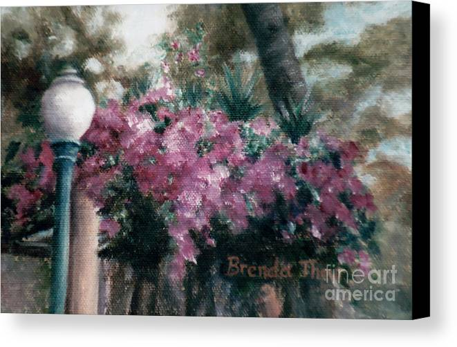 Flowers Canvas Print featuring the painting Cascading Flowers by Brenda Thour