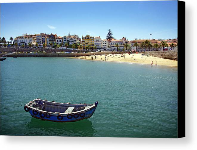 Architecture Canvas Print featuring the photograph Cascais by Carlos Caetano