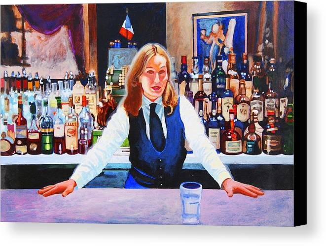 Bar Canvas Print featuring the painting Cassis by John Tartaglione