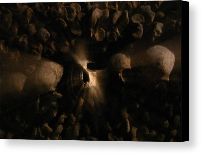 Canvas Print featuring the photograph Catacombs - Paria France 3 by Jennifer McDuffie