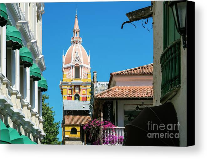 Catedral Canvas Print featuring the photograph Catedral De Cartagena by Kenneth Lempert
