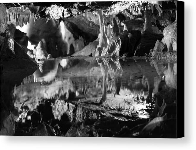 Cave Canvas Print featuring the photograph Cave Reflection 2 by Lauri Novak