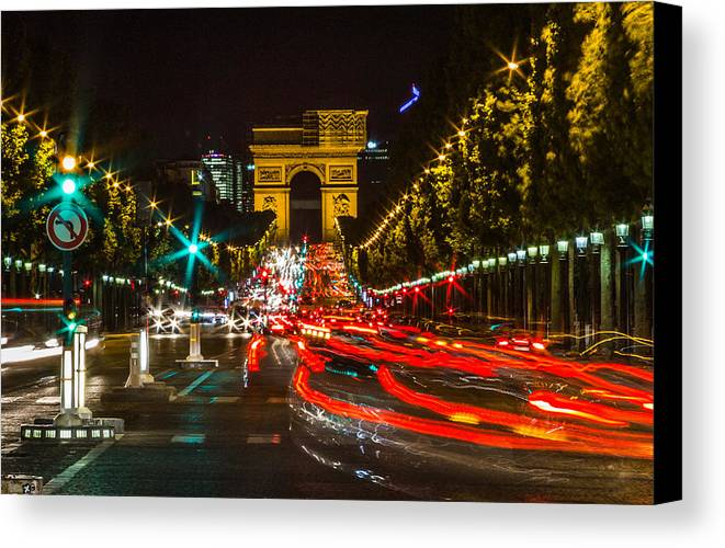 Paris Canvas Print featuring the photograph Champs Elysees by Jeff West