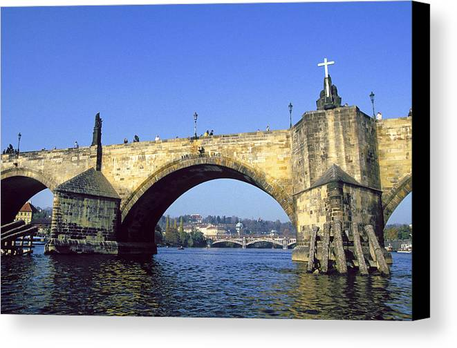 Czech Canvas Print featuring the photograph Charles Bridge, Prague by Buddy Mays