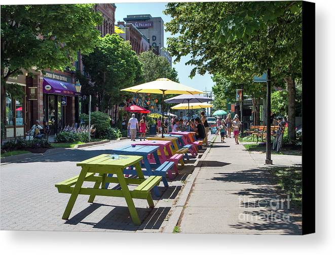 Capital Canvas Print featuring the photograph Charlottetown Street Scene by Judy Tomlinson