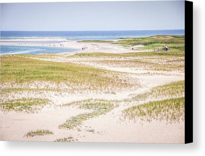 Beach Canvas Print featuring the photograph Chatham Lighthouse Beach by Robert Anastasi