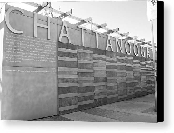 Black And White Canvas Print featuring the photograph Chattanooga 2 by Jessica Roth