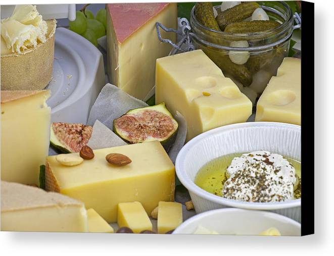 Cheese Canvas Print featuring the photograph Cheese Plate by Joana Kruse