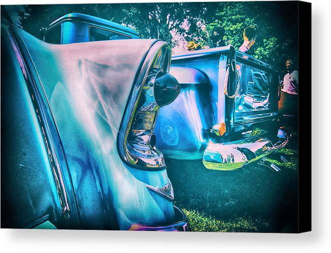 Canvas Print featuring the photograph Chevy Lights by Marvin Borst