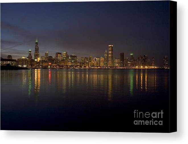 Chicago Canvas Print featuring the photograph Chicago Skyline by Timothy Johnson