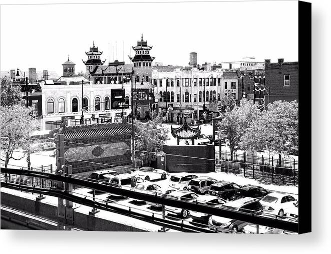 Chinatown Canvas Print featuring the photograph Chinatown Chicago 4 by Marianne Dow