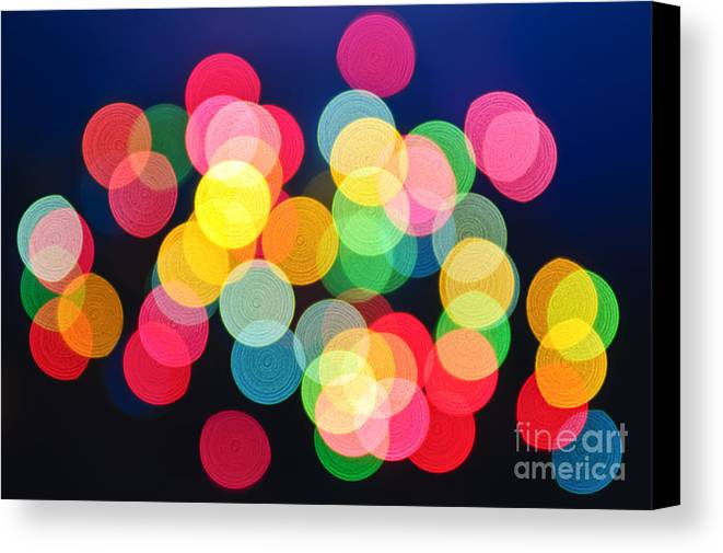 Blurred Canvas Print featuring the photograph Christmas Lights Abstract by Elena Elisseeva