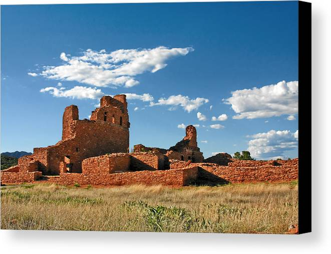 Church Canvas Print featuring the photograph Church Abo - Salinas Pueblo Missions Ruins - New Mexico - National Monument by Christine Till