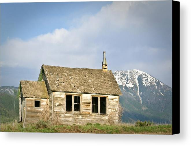 Church Canvas Print featuring the photograph Church And School by Douglas Barnett