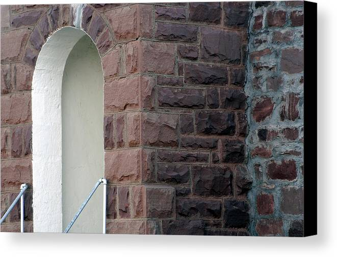 Bricks Canvas Print featuring the photograph Church At Cuervo - New Mexico by D'Arcy Evans