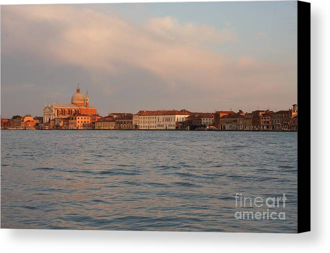 Venice Canvas Print featuring the photograph Church Of The Redentore In Venice Across The Giudecca Canal by Michael Henderson