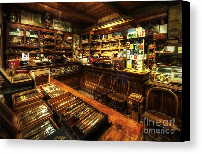Art Canvas Print featuring the photograph Cigar Shop by Yhun Suarez