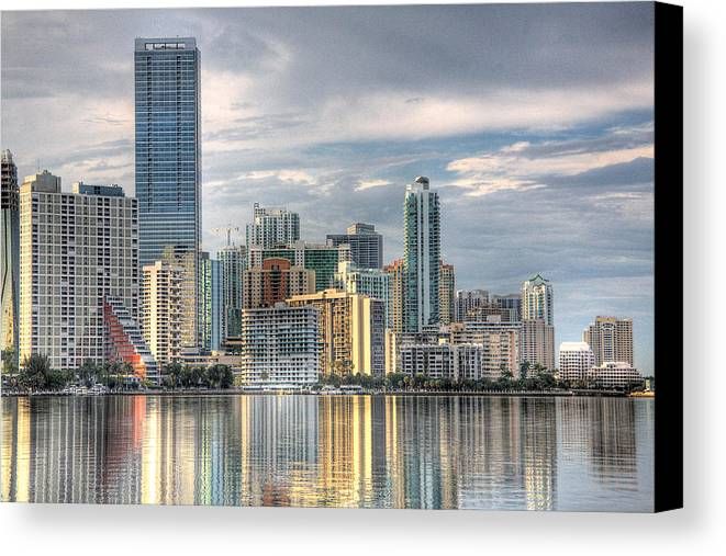Miami Canvas Print featuring the photograph City Of Miami by William Wetmore