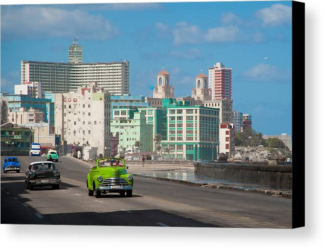 Cuba Canvas Print featuring the photograph Classic Cuba Car Vi by Rob Loud