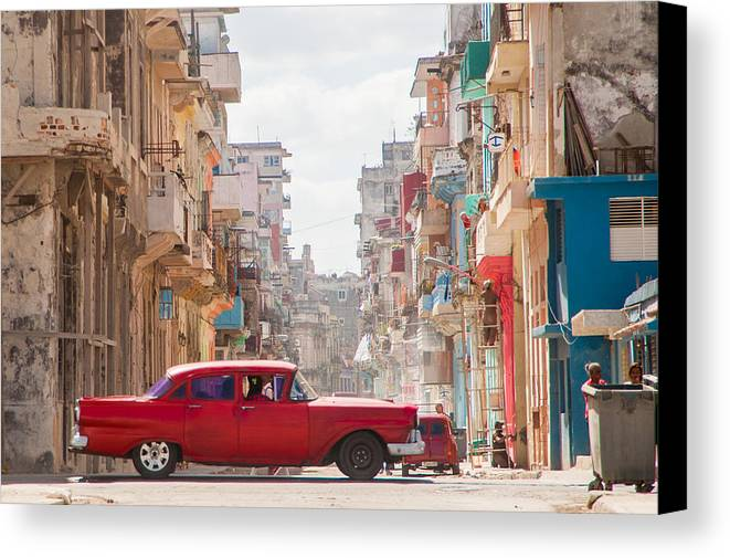 Cuba Canvas Print featuring the photograph Classic Cuba Car Viii by Rob Loud