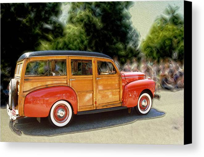 Classic Automobile Canvas Print featuring the photograph Classic Woody Station Wagon by Roger Soule