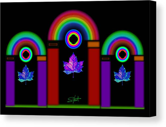 Classical Canvas Print featuring the painting Classical Neon by Charles Stuart
