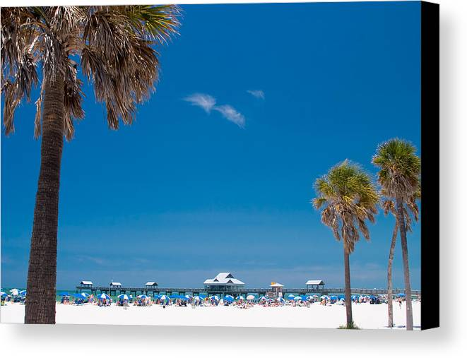 3scape Canvas Print featuring the photograph Clearwater Beach by Adam Romanowicz