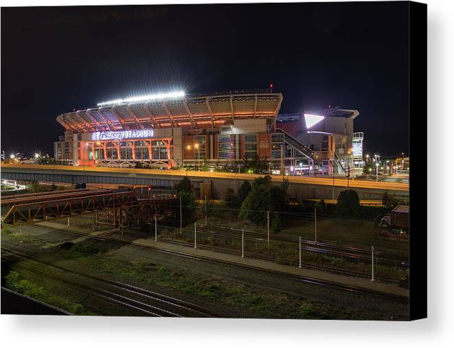 Cleveland Canvas Print featuring the photograph First Energy Stadium by Anthony Stevens