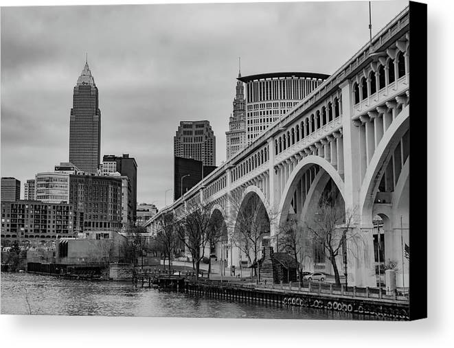 And Canvas Print featuring the photograph Cleveland Skyline by Cityscape Photography