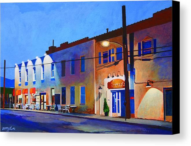 Huntington Canvas Print featuring the painting Clinton Street by John Tartaglione