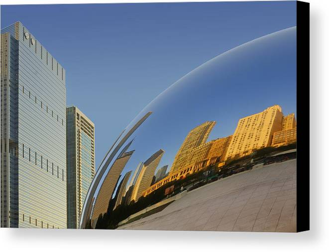 Cloud Gate Canvas Print featuring the photograph Cloud Gate - Reflection - Chicago by Nikolyn McDonald