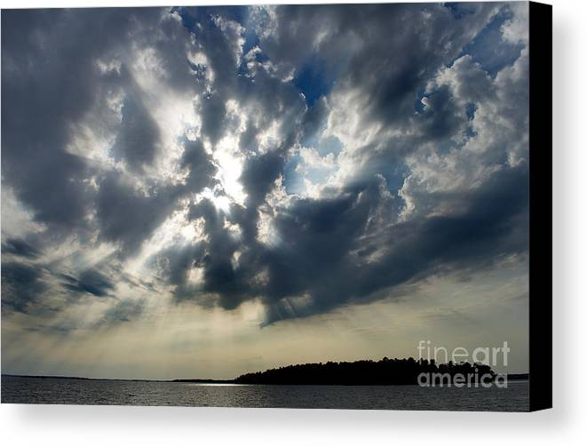 Scenic Tours Canvas Print featuring the photograph Cloudburst by Skip Willits