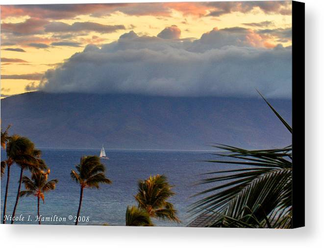 Landscape Canvas Print featuring the photograph Clouds On The Mountain Top by Nicole I Hamilton
