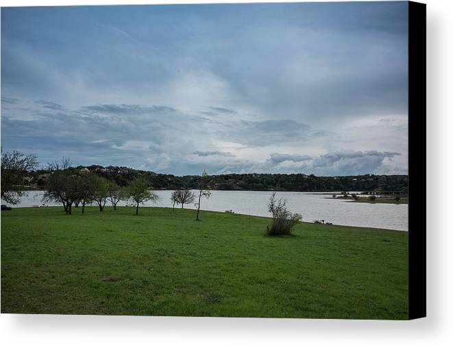 Texas Canvas Print featuring the photograph Cloudy Skies by JG Thompson