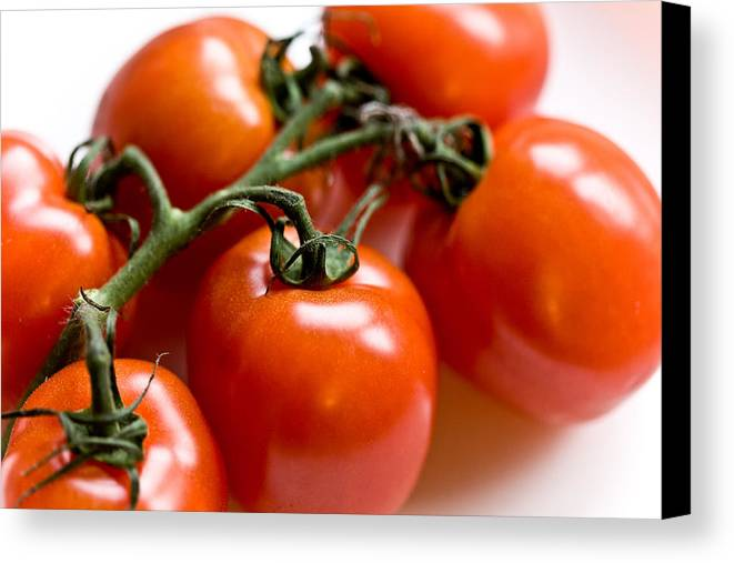Canon Canvas Print featuring the photograph Cluster Of Tomatoes by Hakon Soreide