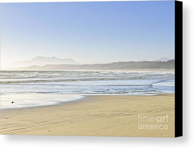 Pacific Canvas Print featuring the photograph Coast Of Pacific Ocean On Vancouver Island by Elena Elisseeva