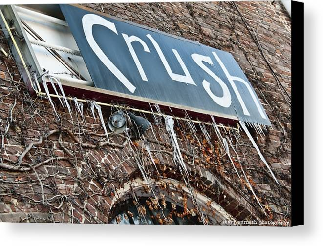 Winter Time Canvas Print featuring the photograph Cold Crush by Sheri Bartoszek