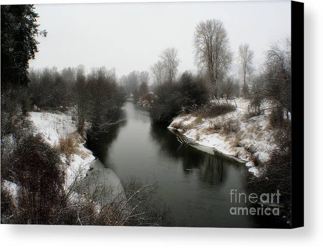 River Canvas Print featuring the photograph Cold River by Idaho Scenic Images Linda Lantzy