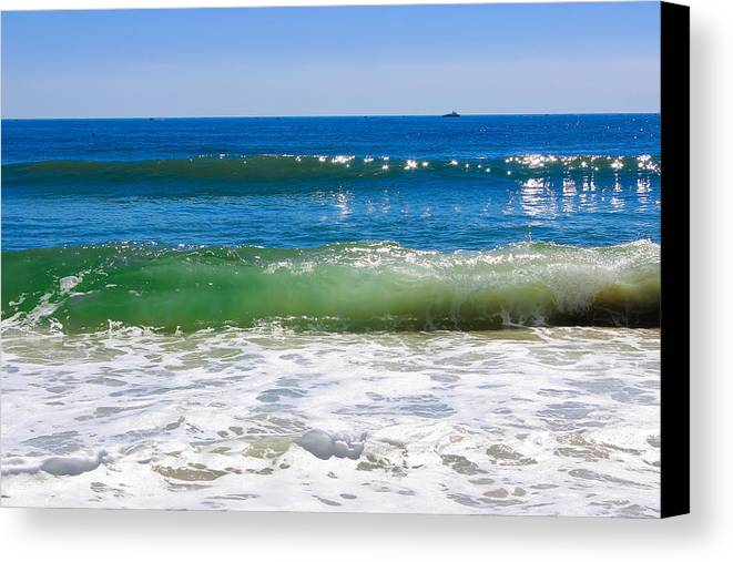 Ocean Canvas Print featuring the photograph Colors Of The Sea by Colleen Kammerer