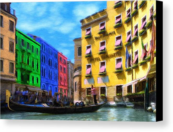 Color Canvas Print featuring the painting Colors Of Venice by Jeffrey Kolker