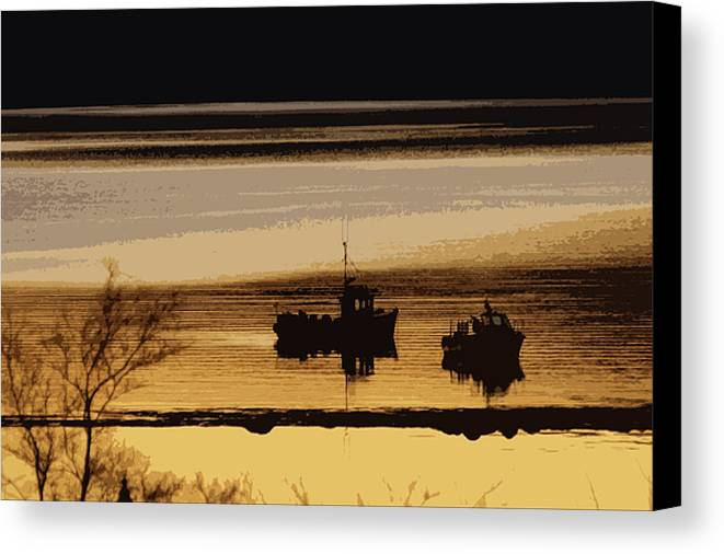 Sunset Canvas Print featuring the photograph Coming Home by Mc Mc
