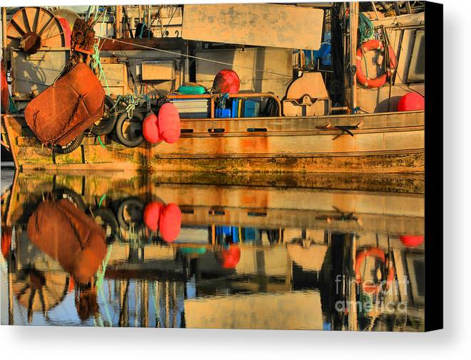 commercial fishing gear canvas print / canvas art by adam jewell, Reel Combo