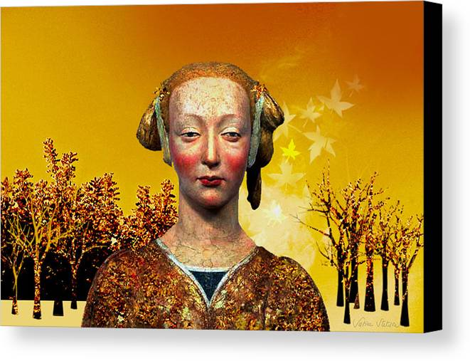 Portrait Canvas Print featuring the digital art Constance by Sabine Stetson