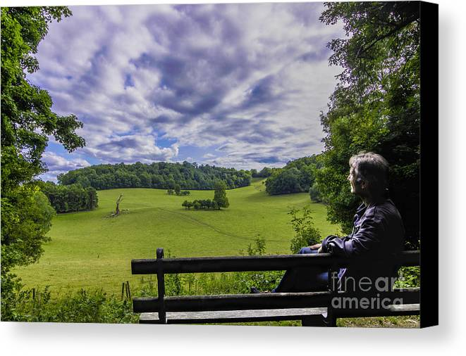 Landscapes Canvas Print featuring the photograph Contemplating The Beautiful Scenery by Fabrizio Malisan