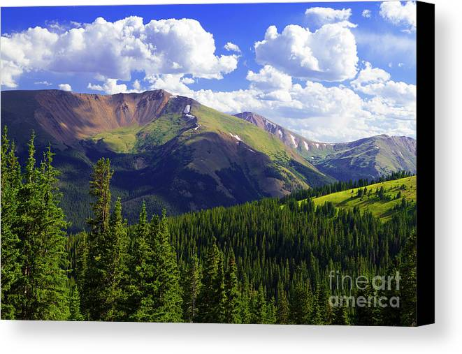 Rocky Mountains Canvas Print featuring the photograph Continental Haze by Barbara Schultheis